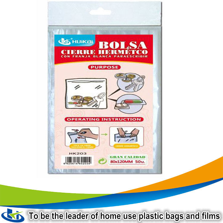 Resealable plastic carry bag design everyday items plastic products zip lock bag clothes