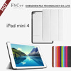Back cover case for ipad mini 4 tablet flip case for ipad bottom case
