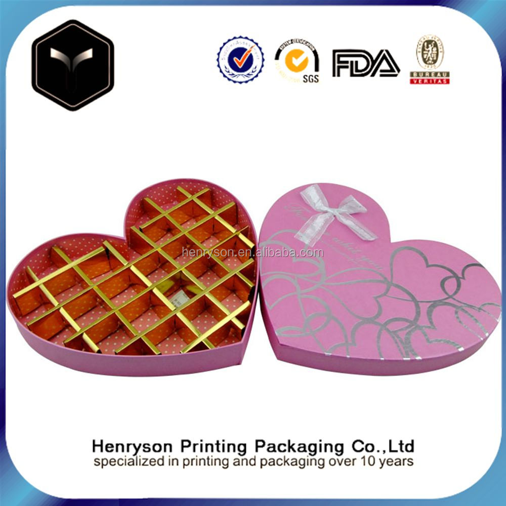 Heart Shaped Empty Fancy Sweet Paper Box Food Chocolate Packaging Box