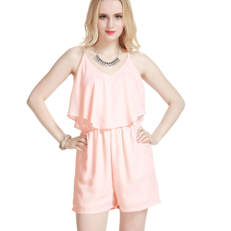 2016 Fashion oem women dress one pieces chiffon sexy sundresses 2016