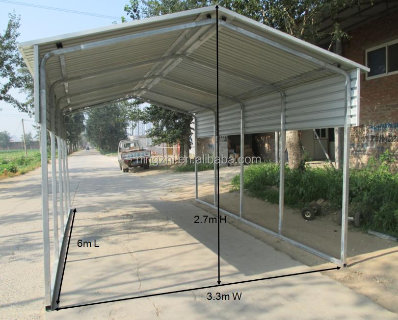 Prefab Large Carports : Grand abri voiture préfabriqué grange gable toit de