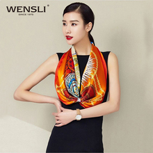 2017 Fashionable 90*90 CM Square Wensli Silk Scarf