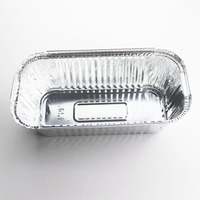 Factory Supplier High Quality Disposable Square Aluminum Foil Food Container