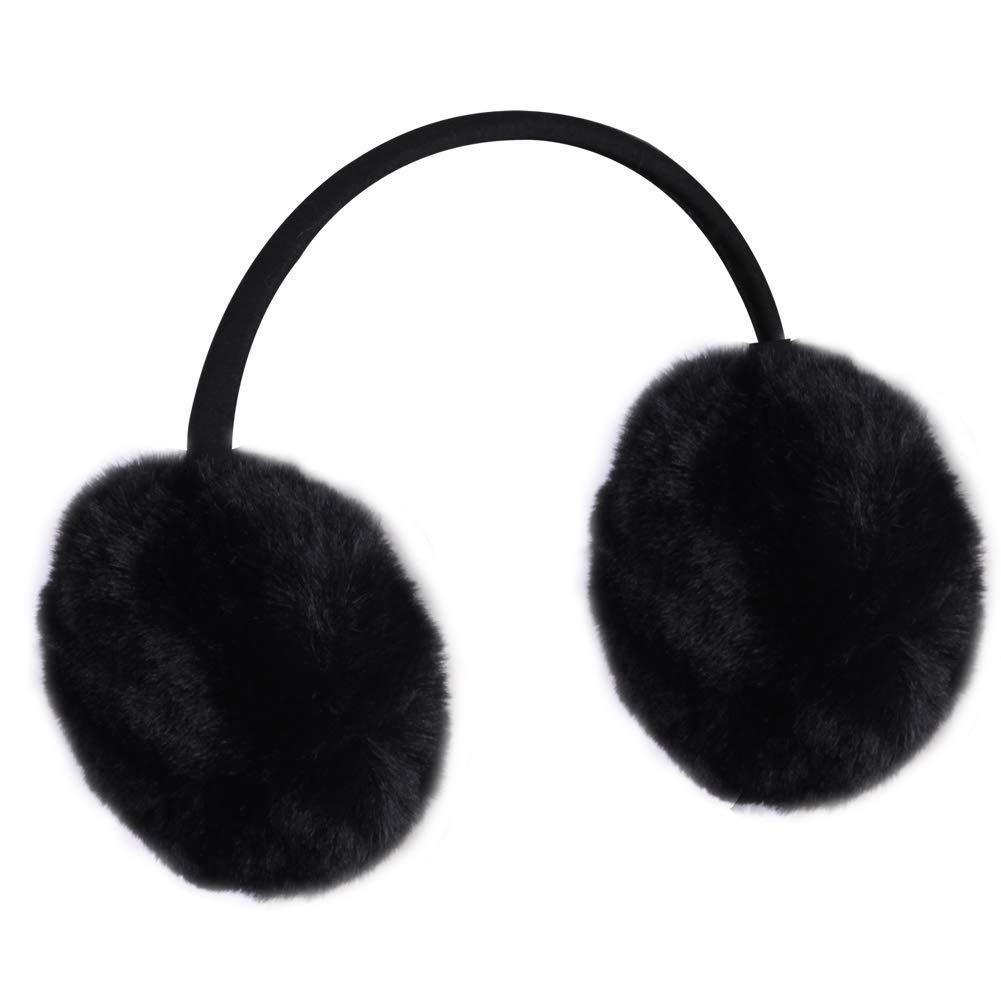 Winter Earmuffs, Lilyfur Womens Headband Faux Fur Outdoor Warmers Fashion Earwarmer