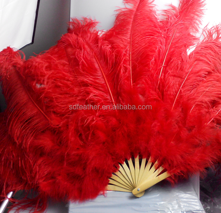 fan staves. large13 bamboo staves/bones belly dance large ostrich feather fan staves a