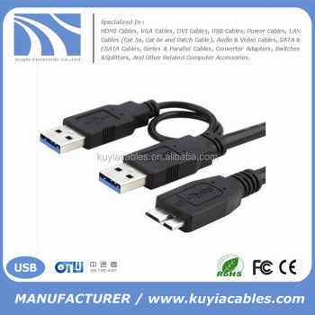 Super Speed 3.0 Usb Splitter Y Cable 2a Male To Micro Usb Cord For ...