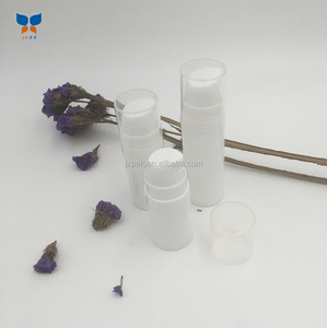 Cylindrical empty airless bottles white airless serum container 5ml 10ml 15ml pp airless pump bottle
