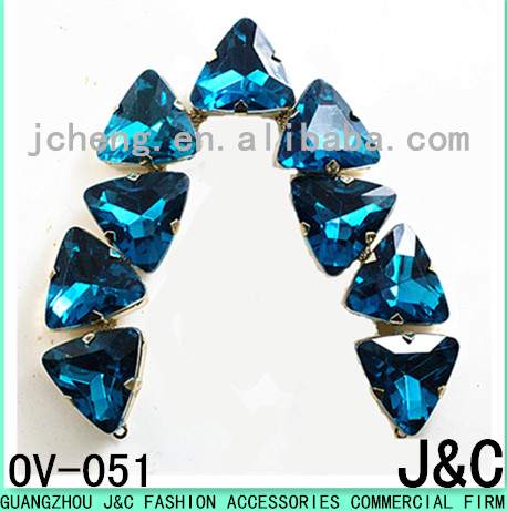 Fancy blue Crystal Chain For Shoe