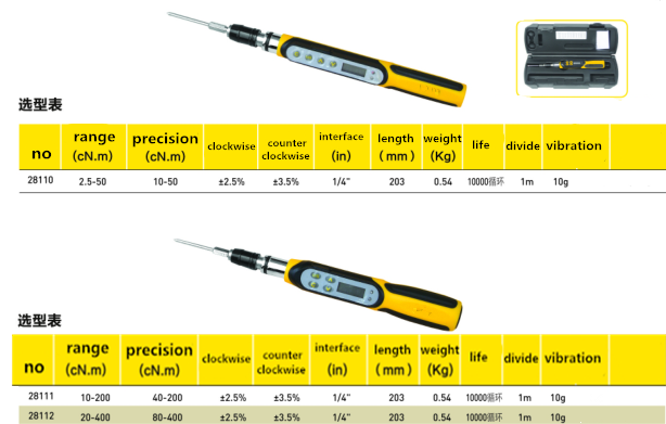 High Grade Digital Torque Screw Driver With Large Measuring Range