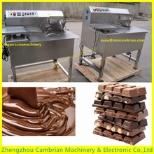 Temperature adjustable 15kg frequency motor chocolate chips tempering machine with Siemens sensor