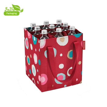 multiple bottles printing shopping bag non woven wine bag