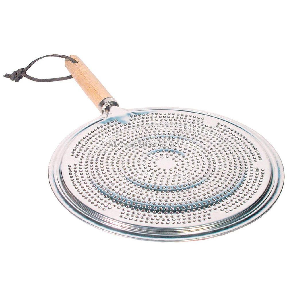 रसोई के बर्तन लकड़ी संभाल स्टेनलेस स्टील उबाल अंगूठी