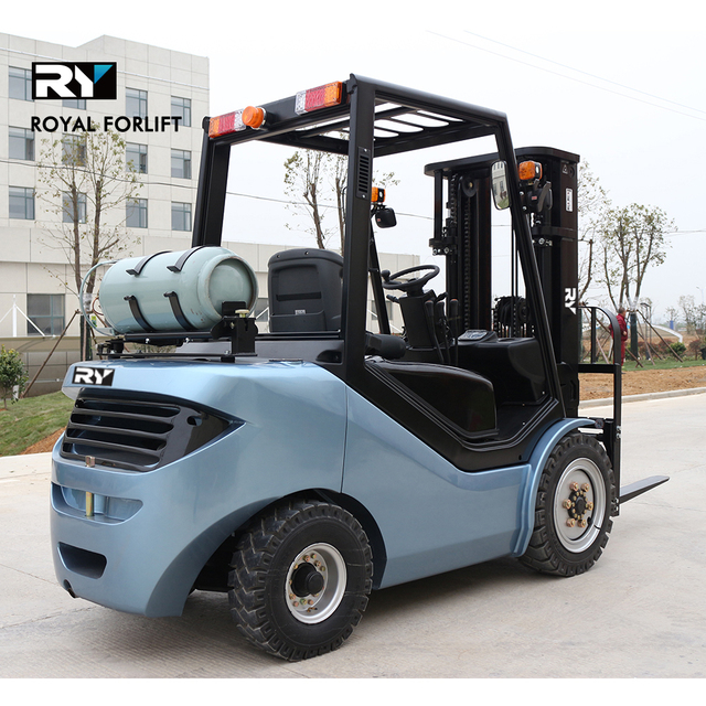 Royal forklift 3.5 ton LPG Gasoline forklift truck dual fuel Nissan K25 RY lift truck 3500 kgs Chinese forklift price