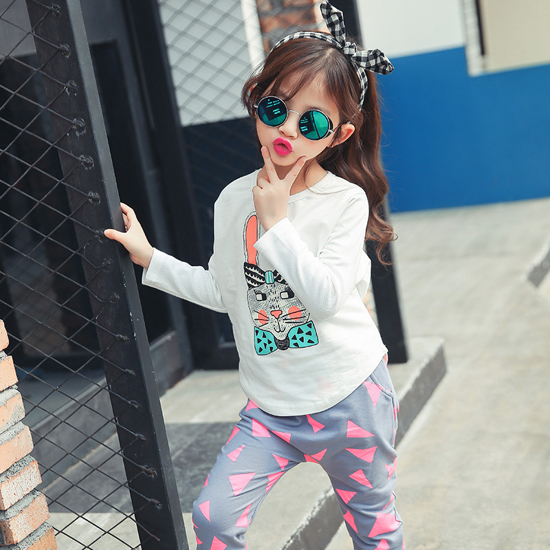 Girls Cloth new bunny suit children in spring boutique children's clothing фото