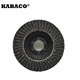 Aluminum oxide/Zirconia/Silicon carbide fiberglass backing dual flap disc
