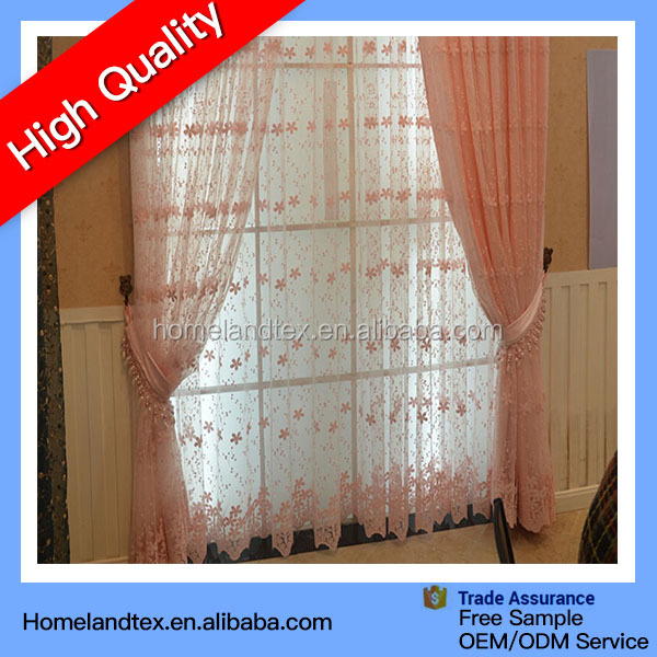 Romantic Flower Tulle Voile Door Window Curtain Drapes Sheer curtains with Valances