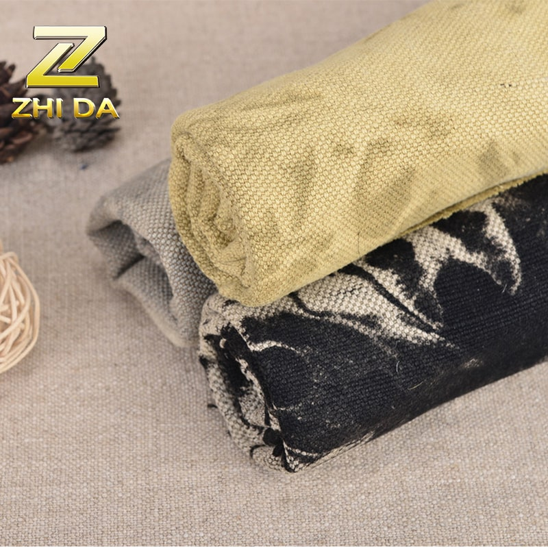 Wholesale jute cloth lot in stock tie and dye fabric for backpack