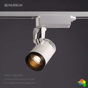 Round adjustable indoor modern europe COB led track light 20W