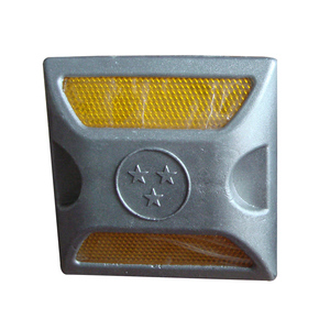 2 side reflectors 100*100*60mm factory sale aluminium road stud