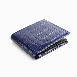 MINANDIO guangzhou supplier fashion design cro pattern leather wallets for men card leather wallet luxury money clip wholesale