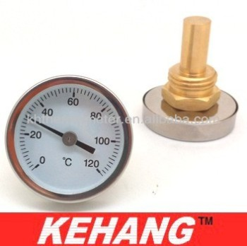 Cheap metal thermometer bimetal temperature gauge hot - Swimming pool water temperature gauge ...