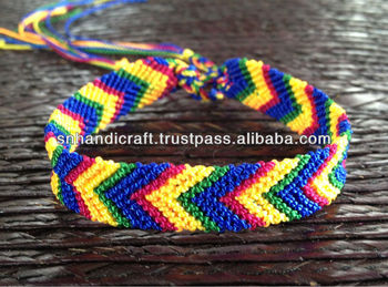 Arrow Friendship Bracelet Chevron Pattern Cotton
