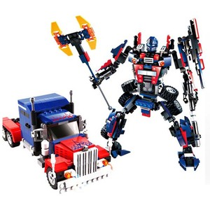 Hot new products for 2018 377 pcs truck robot construction stacking sets