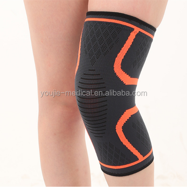 As shown on tv sports knee safety silicone grip gel seamless knee support pads for running