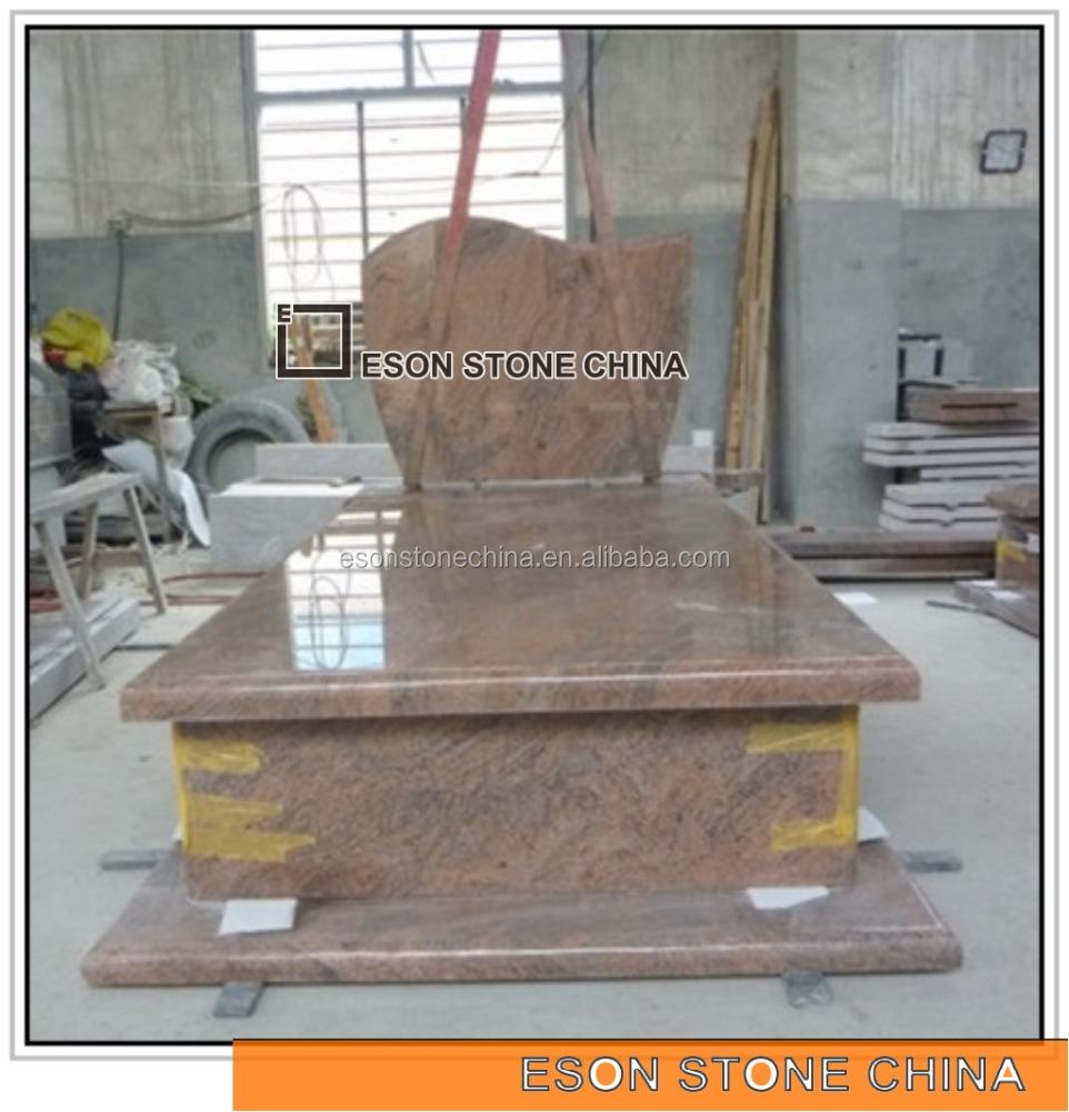 Eson Stone multicolor red granite angel monument gravestone