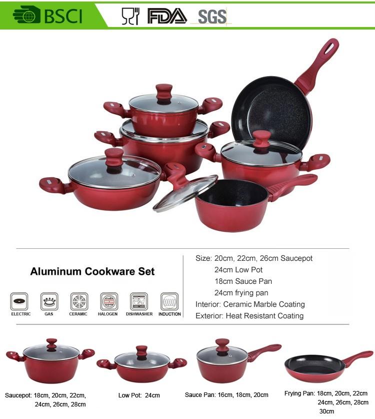 Warna Merah Porselen Dilapisi Cor Peralatan Masak Besi Buy Product