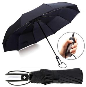 High quality auto open close 3 fold golf umbrella with logo printing