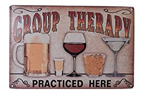 Yours Dec Metal Tin Sign Beer Alcohol Drinking Group Therapy Funny Tin Sign Bar Pub Diner Cafe Wall Decor Home Decor Art Poster Retro Vintage