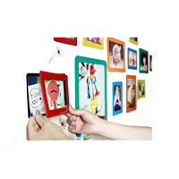 Shenzhen Fridge Magnet Magnetic Picture Frames 5 x 7 Black White Photo Frame 4 x 6 for Wall