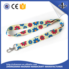 2017 popular Custom Woven Lanyard with Logo Printing