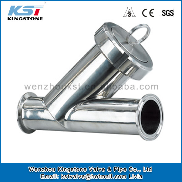 china manufacturer y type stainer clamp filter