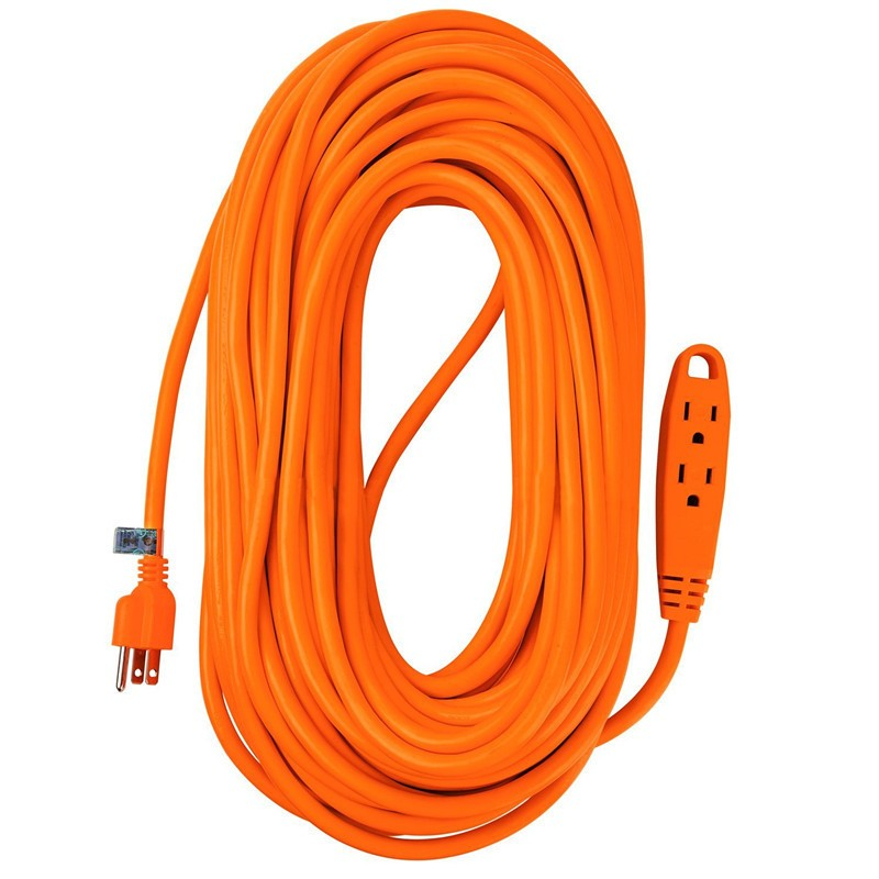 100 Feet 3 Outlet Heavy Duty Extension Cord Outdoor