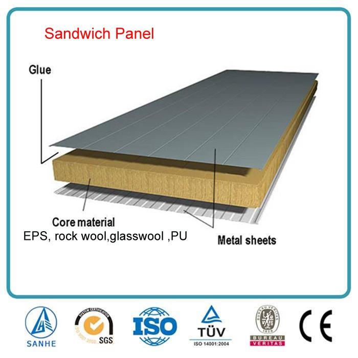Rigid Insulation Fiberglass Wall Sandwich Panels For