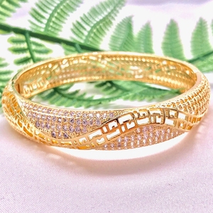 Luxury Crystal Bracelets For Women Middle Eastern Style Gold Color Bangles Femme Bracelet Jewelry