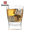 Reusable wholesale ice cubes metal whiskey stone for Bar
