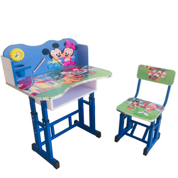 Dt A Wooden Student Desk And Chair