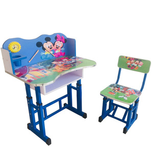 bae0ddbaf42 DT- A Wooden Student Desk and Chair Kids Study Table Chair