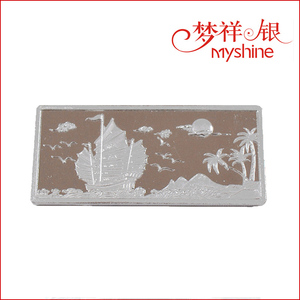 2016 New Products Customized 999 Pure Silver Bars