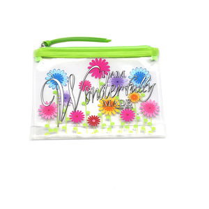 PVC clear waterproof plastic bag, zipper makeup bag cosmetic bag