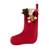 Custom personalize red christmas stocking for kids,christmas gift with wholesale price