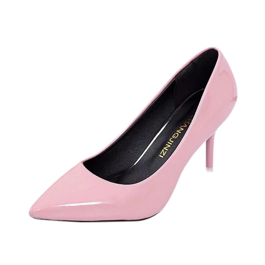 Four Seasons patent leather Low Heels Shoes Women