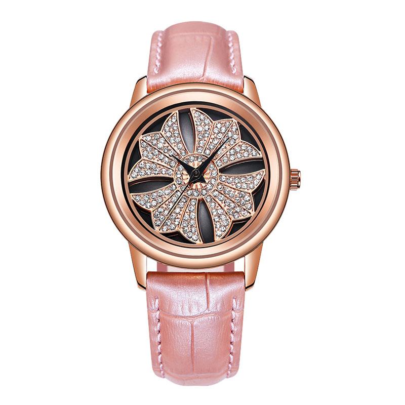 Hot Luxury Rhinestone Rotating dial Women Watch Ladies Casual Dress Quartz WristWatch фото