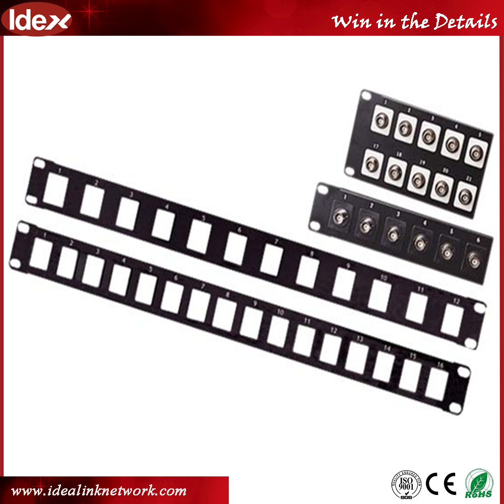 high quality unshielded RJ45 12 ports/24 ports 48 ports utp cat6 ethernet patch panel