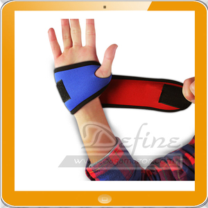 Compression Grip Gloves Wrist Wrap Brace for Fitness Lifting Grip Pad