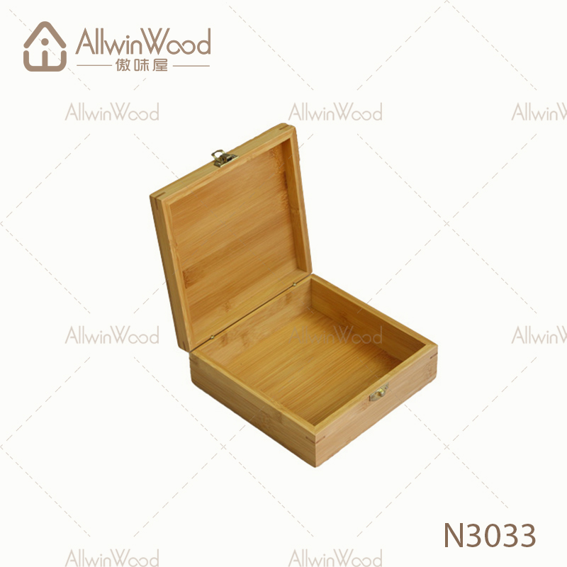 Custom Storage Clamshell bamboo box