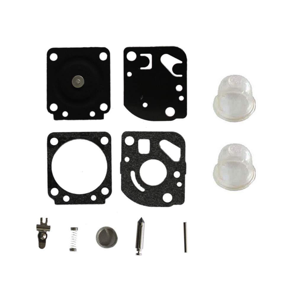 AISEN Carburetor Diaphragm Gakset Rebuild Kit Primer Bulb for ZAMA C1U-K54A Mantis Tiller Echo SV-4B SV-5C SV-6